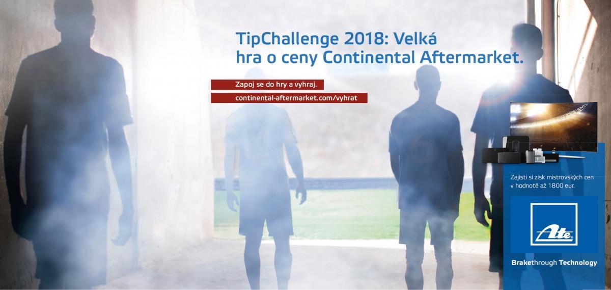 TipChallenge 2018 - velká hra o ceny Continental Aftermarket