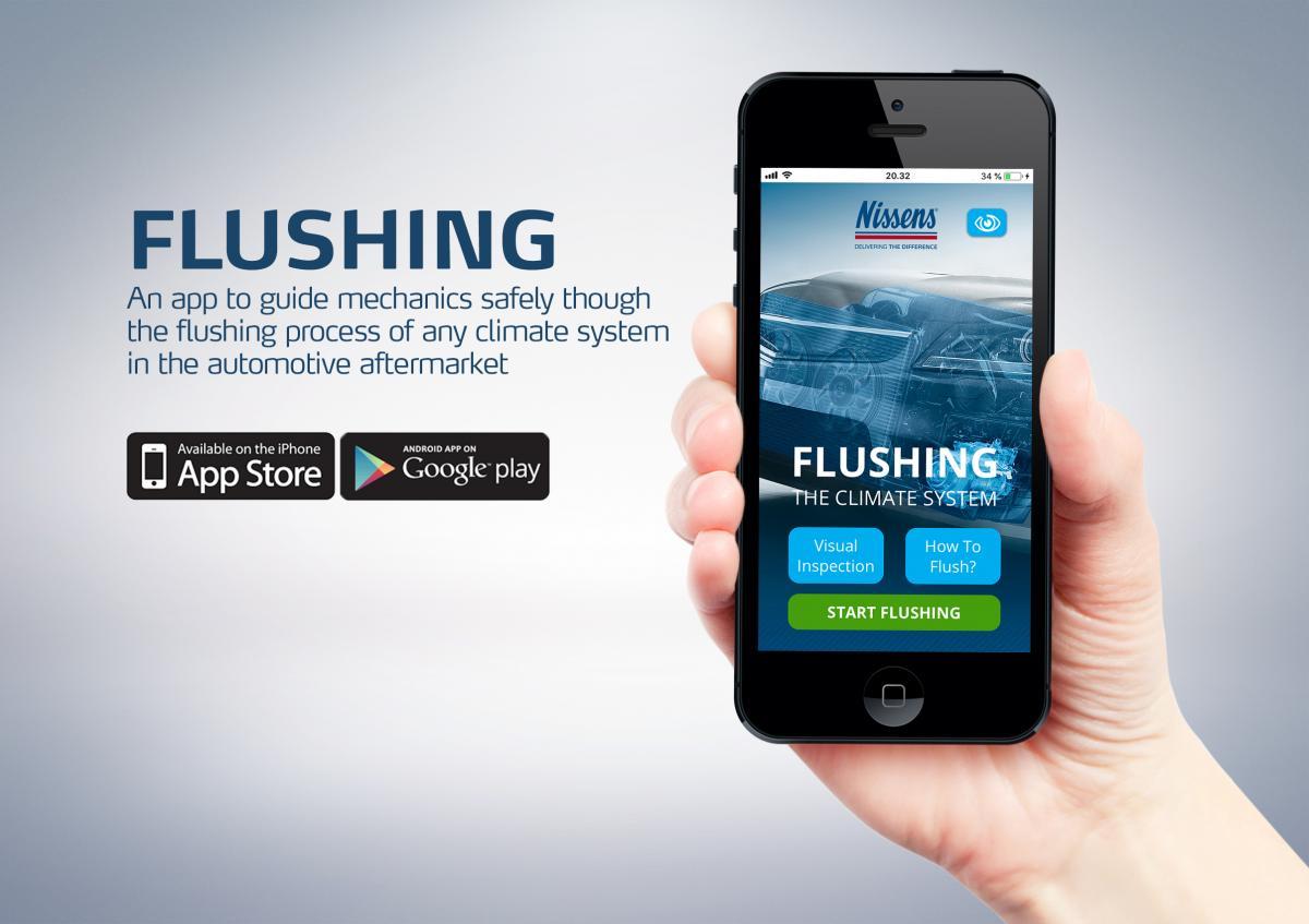 Mobilní aplikace Nissens Flushing