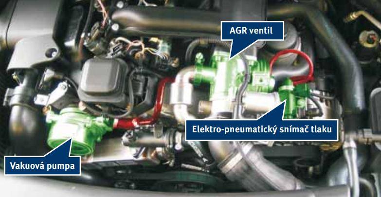Příklad vakuového systému u BMW 118d (E87)