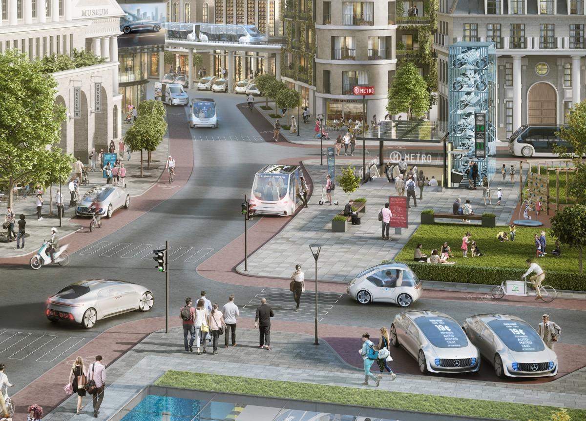 Soubor řídících jednotek pro automatizované řízení v městském provozu zvládá stovky bilionů výpočetních operací za sekundu