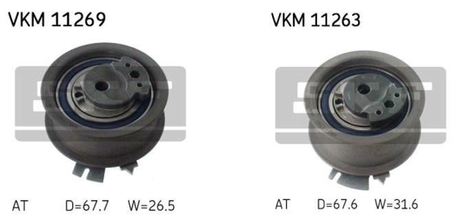 Doporučená montáž napínáků VKM 11269 a VKM 11263