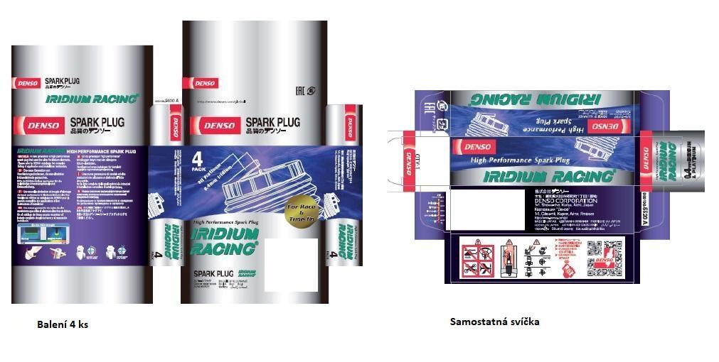 Nové obaly svíček Denso Iridium Racing