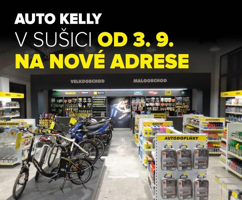 Auto Kelly v Sušici od 3. 9. na nové adrese