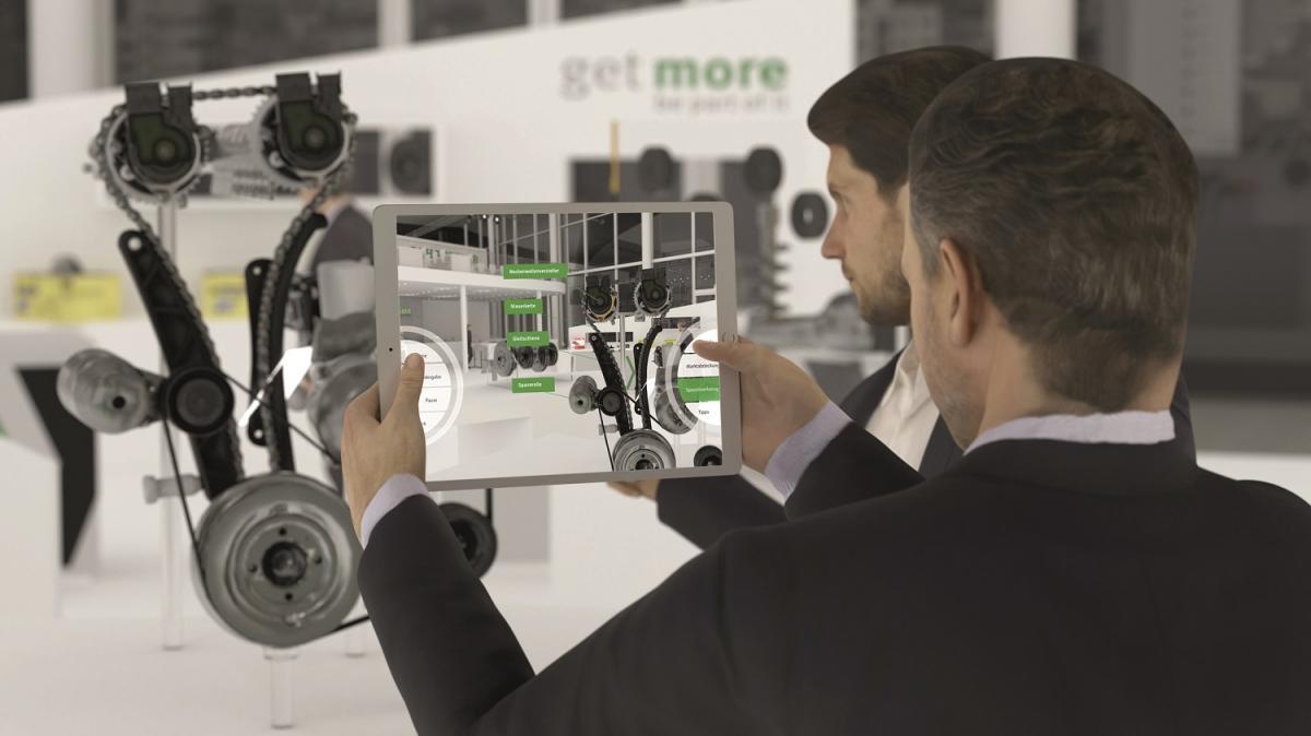 Firma Schaeffler demonstruje své zkušenosti s pomocí virtuálních animací a interaktivních prvků