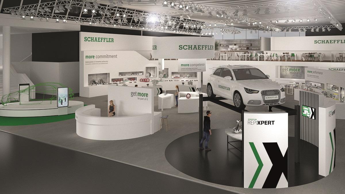 Stánek firmy Schaeffler na veletrhu Automechanika Frankfurt 2018