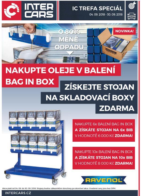 Nakupte oleje Ravenol v balení Bag in Box a získejte stojany zdarma u Inter Cars