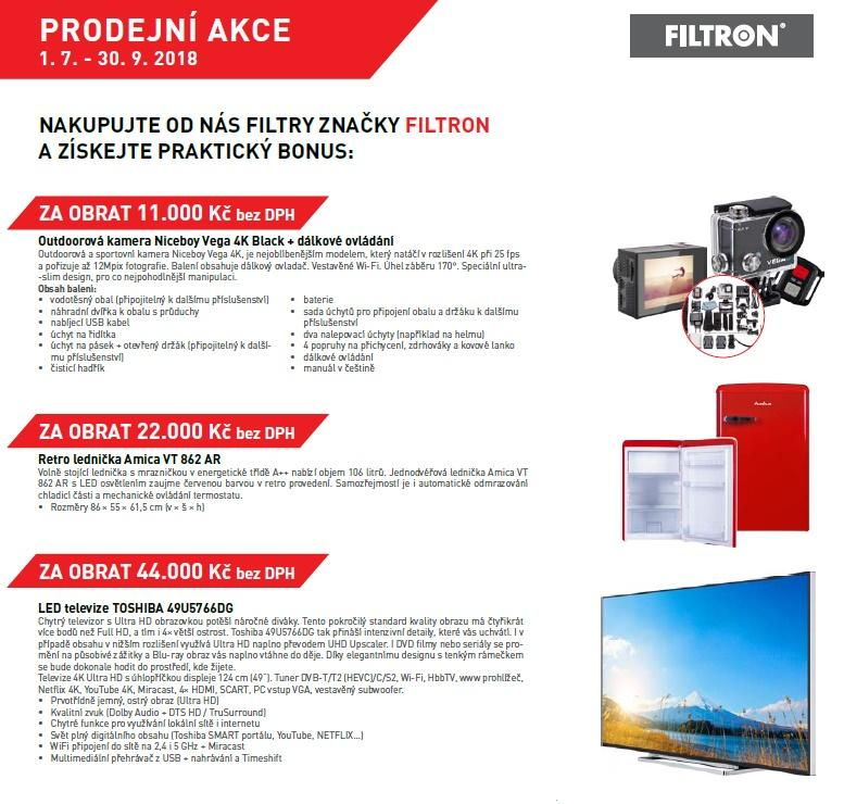 K nákupu filtrů FILTRON praktické bonusy od firmy Stahlgruber