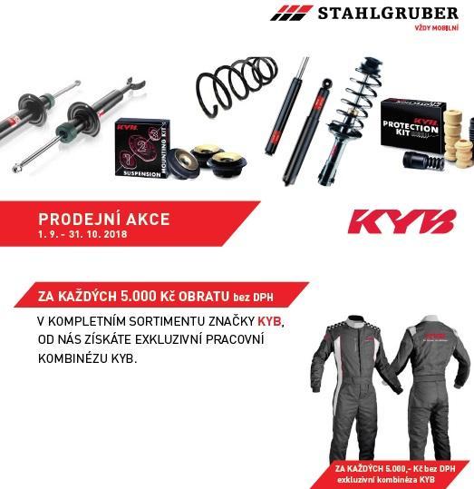 K nákupu sortiment KYB získáte pracovní kombinézu u společnosti Stahlgruber