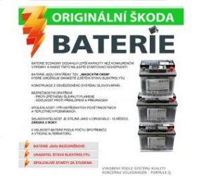 Originální baterie Škoda Economy u AUTOPARTS