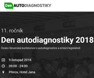 Den autodiagnostiky 2018 již 9. listopadu