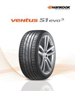 Hankook prezentuje novou vlajkovou loď v segmentu vysoce výkonných pneumatik pro osobní a SUV vozidla: Ventus S1 evo 3