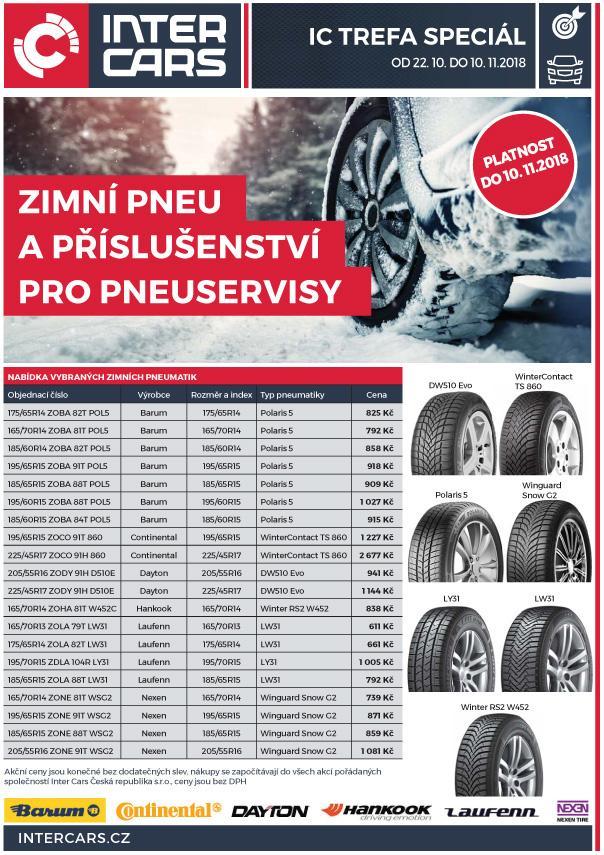 Zimní pneu v akci u Inter Cars