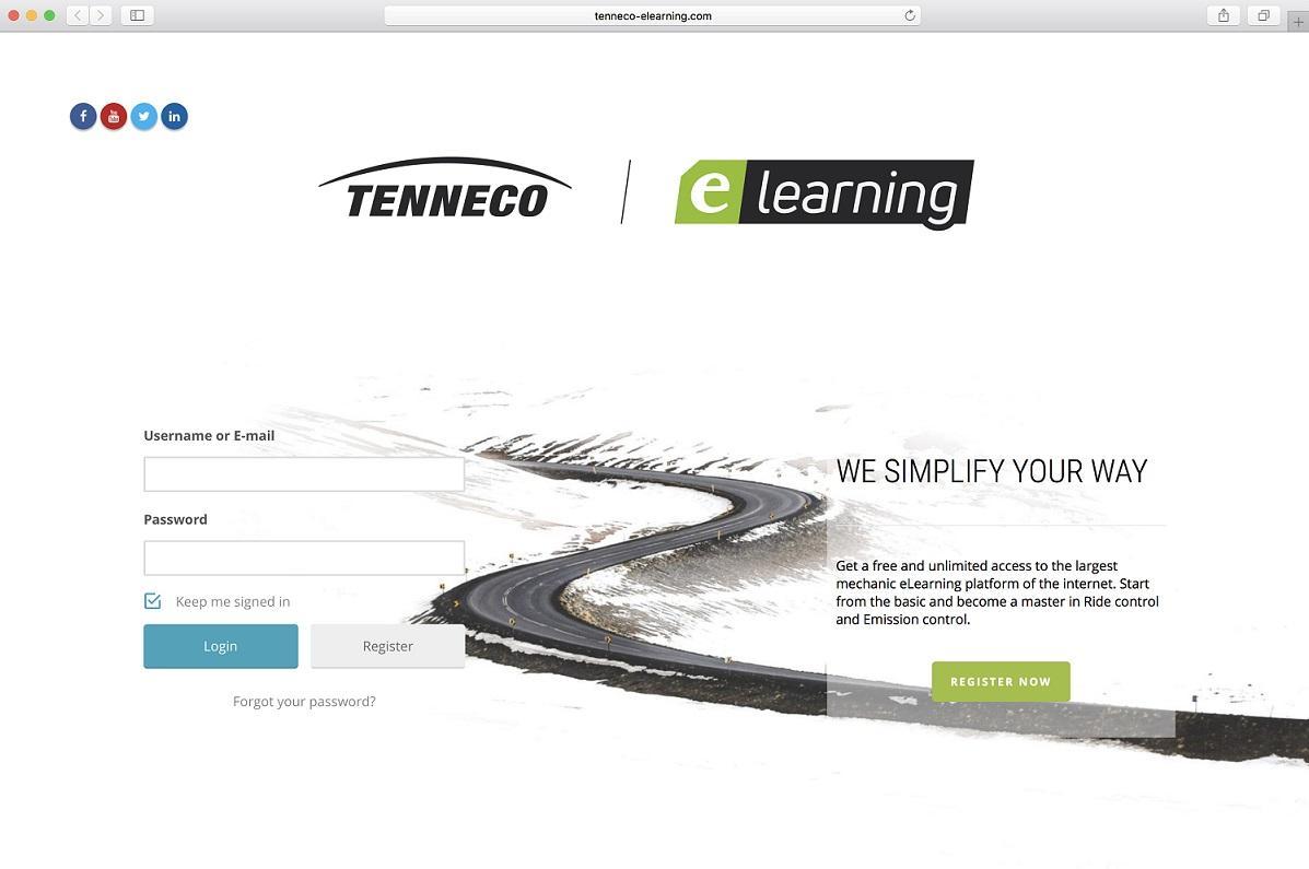 Nová webová platforma Tenneco eLearning