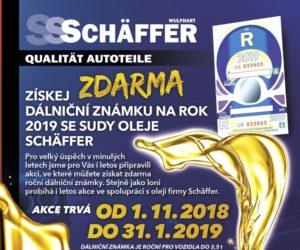 J+M autodíly: Dálniční známka na rok zdarma při koupi sudů oleje značky Schäffer