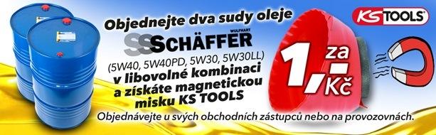 Akce J+M Autodíly za sudové oleje SCHÄFFFER magnetickou misku