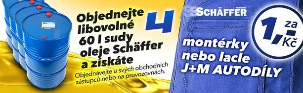 Akce J+M Autodíly za sudové oleje SCHÄFFFER montérky