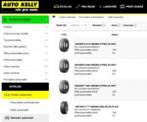 Nová vylepšení e-shopu Auto Kelly