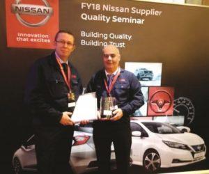 Závod Peterlee společnosti NSK získal cenu Nissan Quality Award