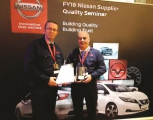 Společnost NSK získala cenu Nissan Quality Award