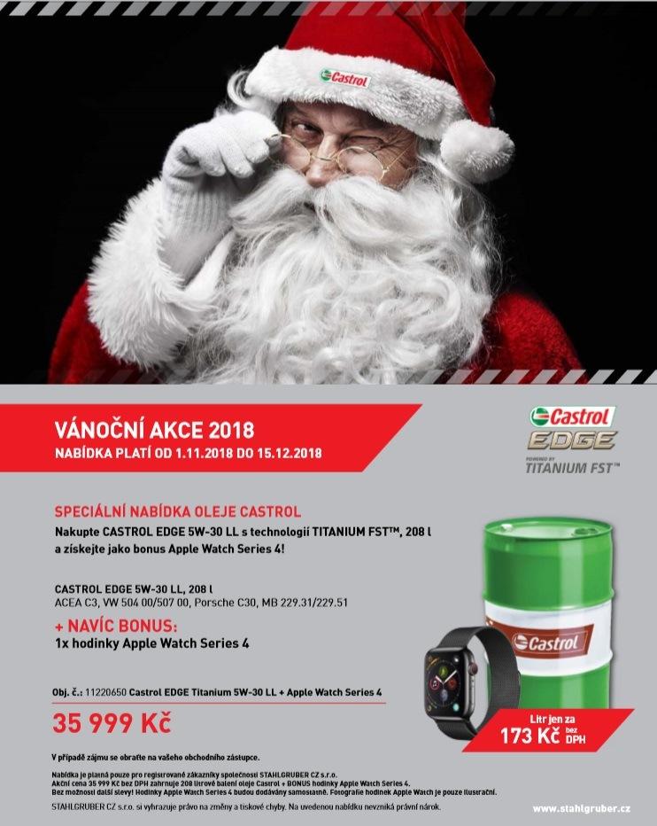 Vánoční akce na oleje Castrol u Stahlgruber