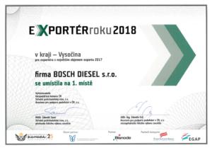 Doklad přínosu firmy Bosch pro Českou republiku