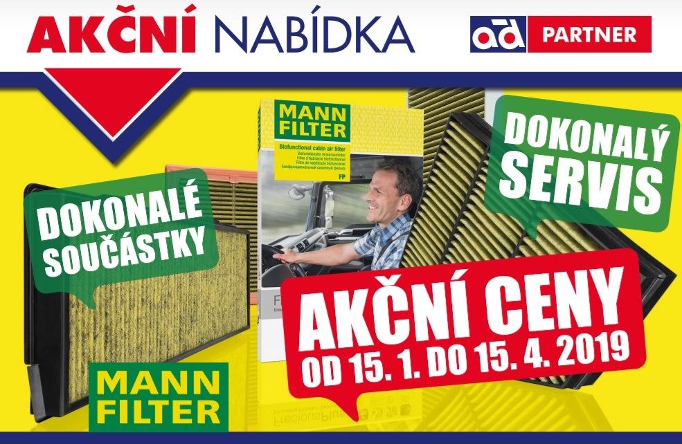 Akční ceny na součástky Mann Filter u AD Partner