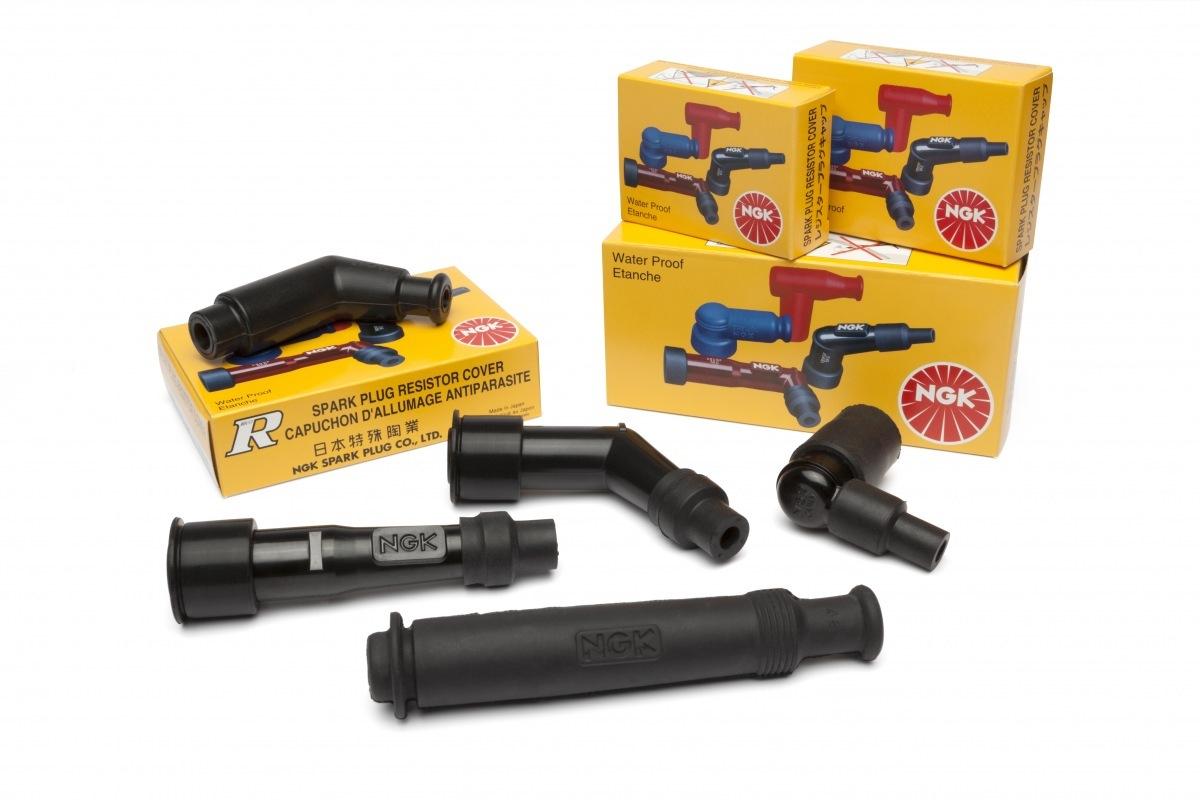 NGK koncovky zapalovacích kabelů, tzv. fajfky pro motocykly a čtyřkolky