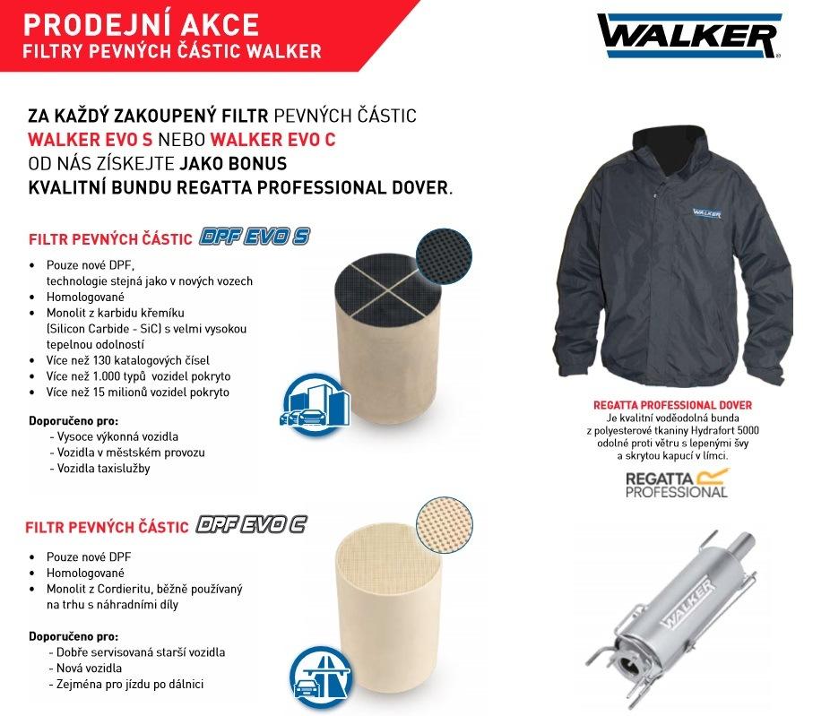 Bunda jako bonus při nákupu filtrů Walker Evo u společnosti Stahlgruber