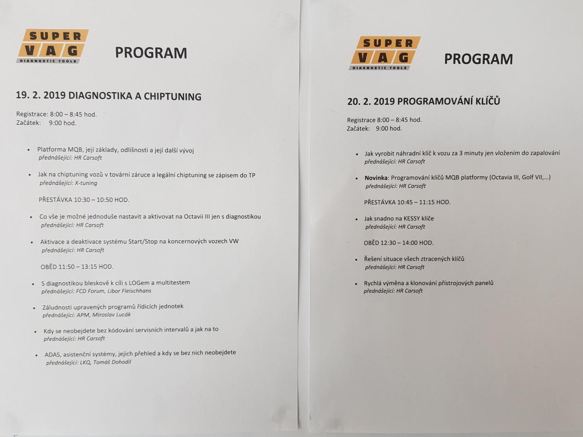 Program IV. ročníku SuperVAG OPEN