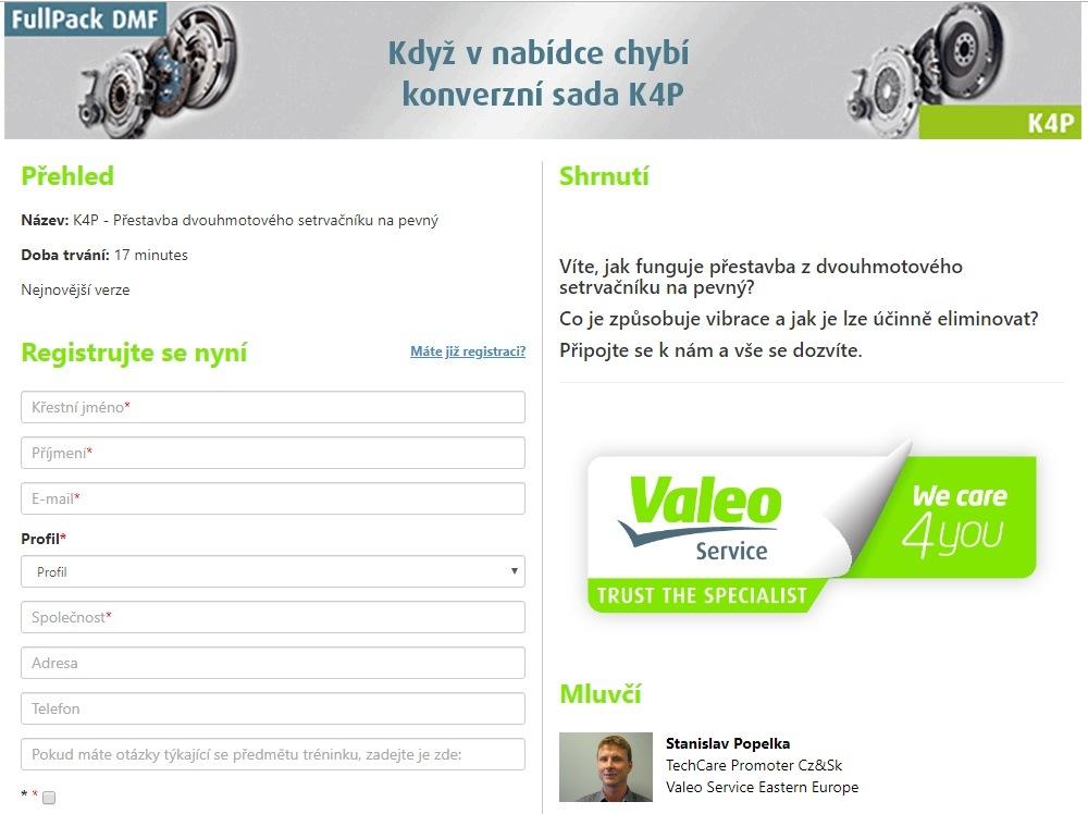 Online školení Valeo