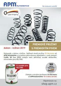 Prémiové pružiny CS Germany s prémiovým pivem u APM Automotive