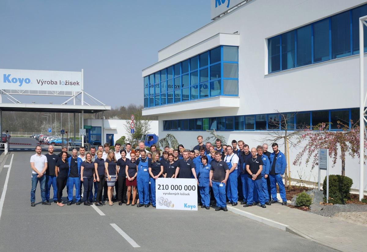 Koyo Bearings vyrobilo 210 milionů ložisek