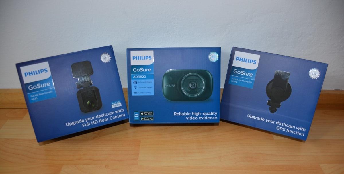 Philips GoSure ADR820, GPS senzor a zpětná kamera GoSure RC20