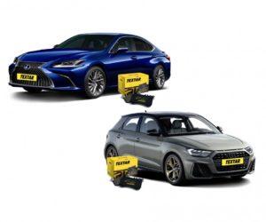 Brzdové destičky pro Audi A1 a Lexus ES značky Textar