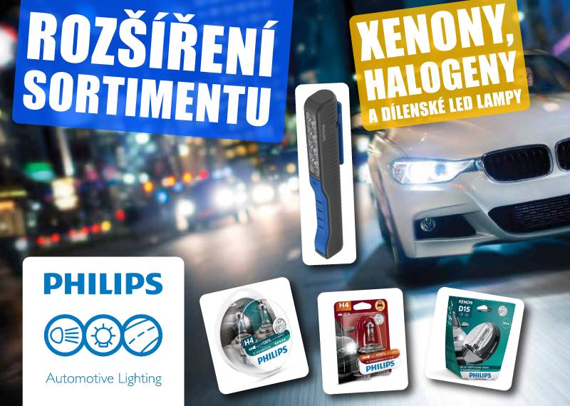 Philips Xenony, Halogeny a dílenské LED lampy nově u AD Partner