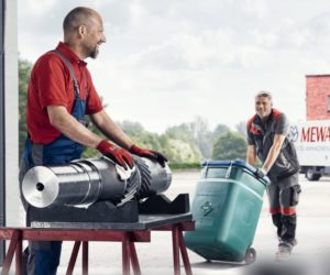 Světový den zdraví a bezpečnosti při práci 2019: Správné skladování a přeprava znečištěného čistícího materiálu Mewa