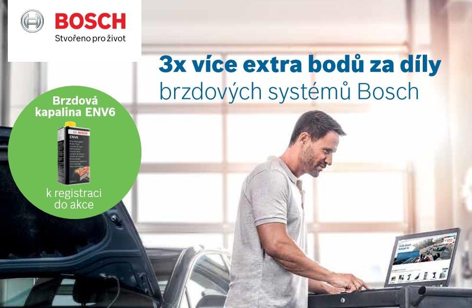 3x více extra bodů za díly brzdových systémů Bosch