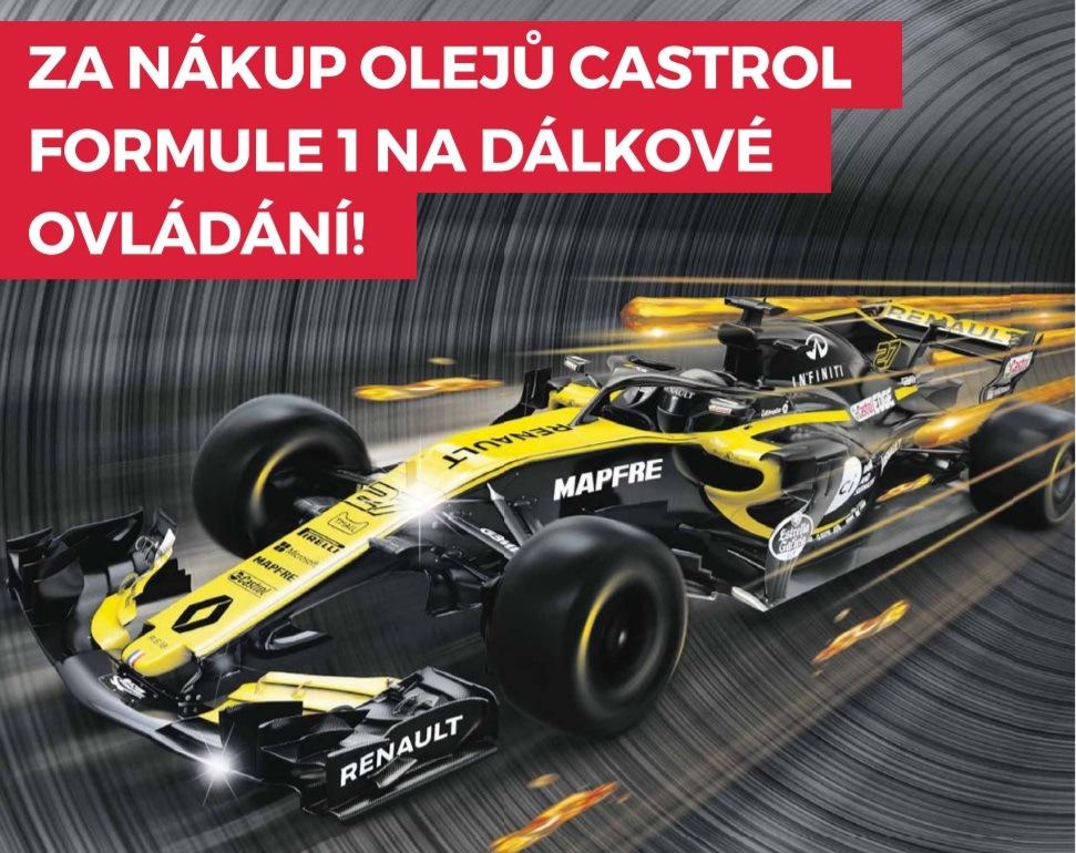 Za nákup olejů Castrol Formule F1 jako dárek u Inter Cars