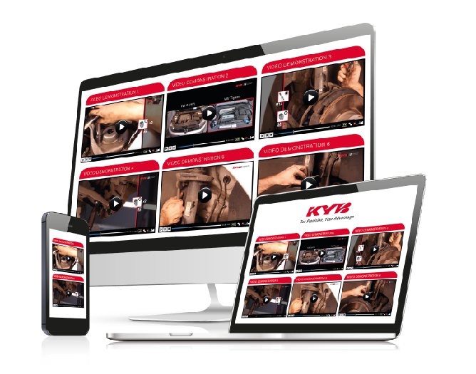 Montážní návody a videa KYB