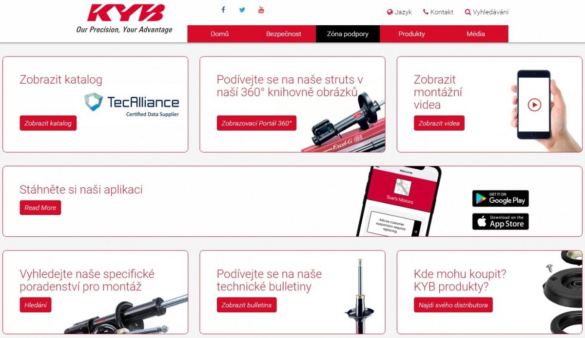 program technické podpory – KYB Suspension Solutions
