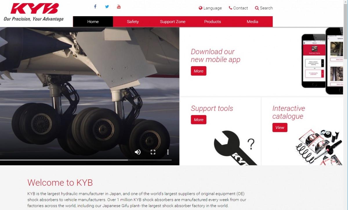 Nové webové stránky KYB