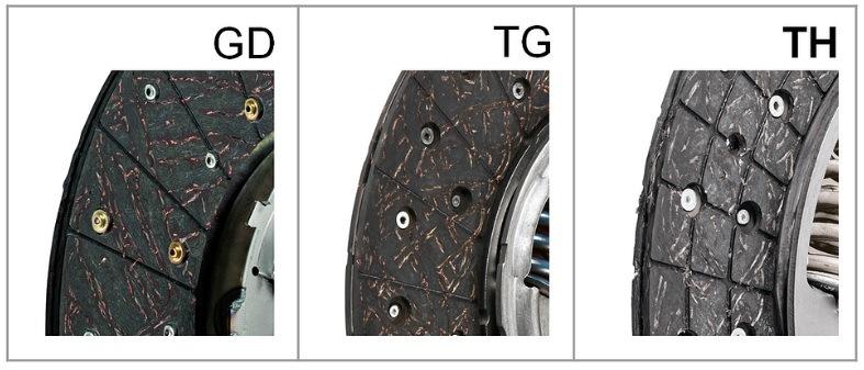 Srovnání konstrukce lamel GD, TG, TH