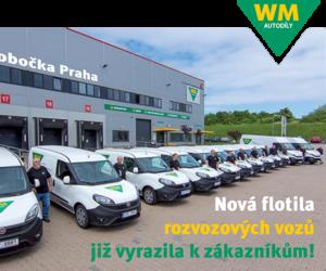 Flotila rozvozových vozů WM autodíly v nových barvách