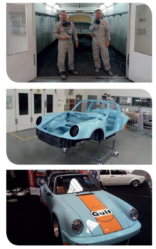 Porsche 911 z roku 1976 v legendárních barvách Gulf racing