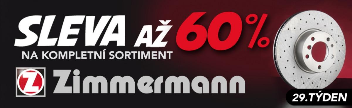 Akční ceny na kompletní sortiment Zimmermann u J+M Autodíly