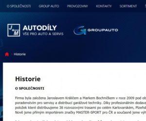 Nový e-shop J+M autodíly