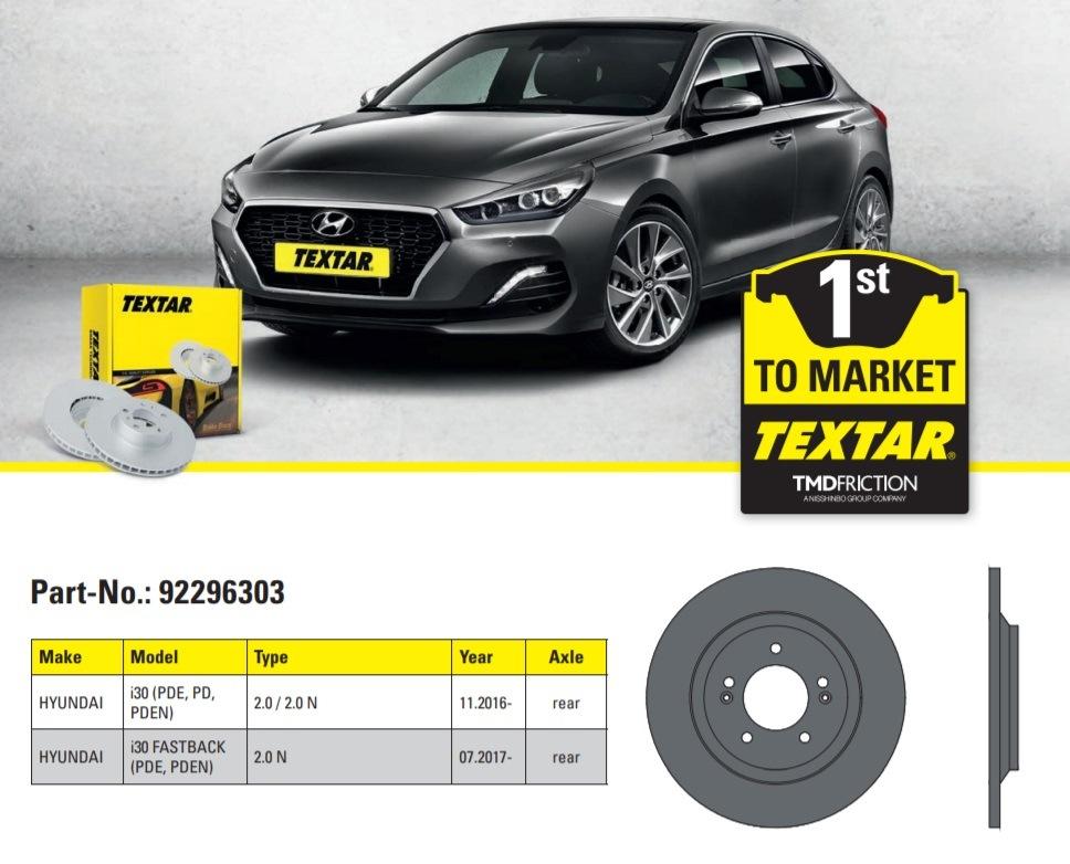 Brzdové disky Textar pro nový Hyundai i30