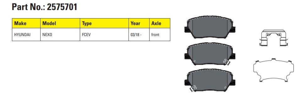 Brzdové destičky Textar nově pro Hyundai Nexo