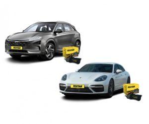 Brzdové destičky Textar jsou k dispozici pro Porsche Panamera a Hyundai Nexo
