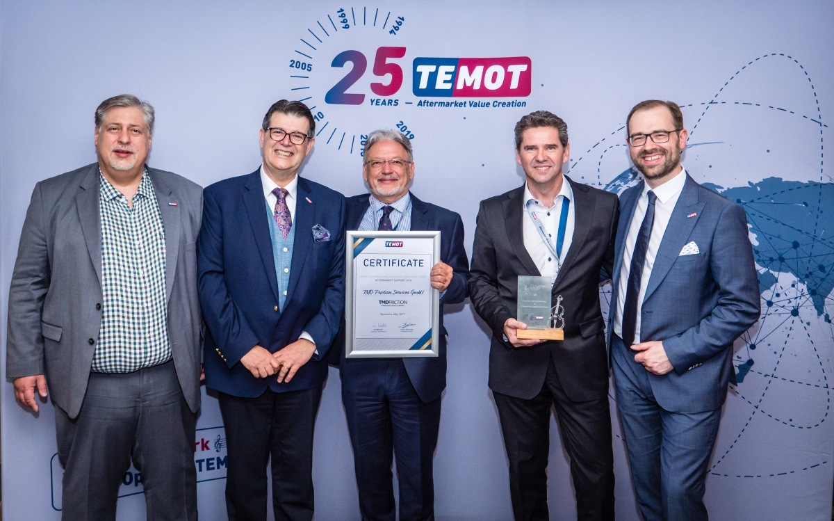 TMD Friction získala cenu Temot
